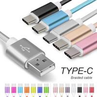الكابلات عالية السرعة USB نوع C مزامنة البيانات شحن سمك الهاتف سماكة قوي مزين الكابل شاحن مايكرو