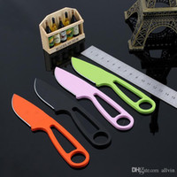 Top Qualität 4 Stil Kleines Nackenmesser Feste Klinge Fruit Messer 5c13 Farbbeschichtete Klingen Outdoor Camping Jagd EDC-Messer