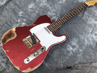 Neue Art E-Gitarre, handgefertigte schwere Reliktgitarre.Alder-Holzkörper Flamed Ahornhals