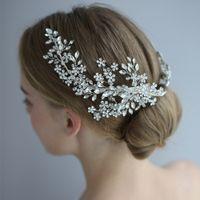 Rhinestone Headband Bridal Hair Clips Luxury Headpieces Women Accessories Tiara Hair Jewelry Wedding Hair Accessories For Bride J0121