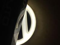 11 cm LED logotipo luz branca azul vermelho 4D LED carro crachás 12v luzes de emblema traseira