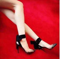 Оригинальная коробка Box Black Hight Up Slincback Женщины Платье Обувь Насосы Новейшие Красные Нижние Высокие каблуки ПВХ Кристалл Bling Crystal Bling oaked Toe Свадьба Shoess