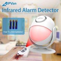 Détecteur d'alarme infrarouge CPVAN CP2 avec télécommande Siren Contrôle de la télécommande PIR Détecteur de mouvement 125DB Volume Alarm de la batterie 1