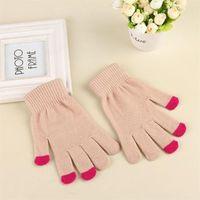 Gants à écran tactile magique textos tricotés stretch adulte une taille d'hiver chaud chaud doigt tactile gants de Noël zzc2927
