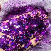 Tırnak Glitter 1 KG Renkli Holografik Sequins 9 Renkler 1-2.5mm Boş Beş Noktalı Yıldız Festivali Makyaj Sanat