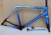Blue Colnago C64 Décoration d'art Cadre de vélo de carbone 48 / 50/52 / 54cm / 56cm Race Road Cadre