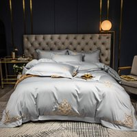 60S algodão egípcio cama Set bordado cor duvet cover roupa de cama de casamento solid hotel fronhas lençol sheetl plana