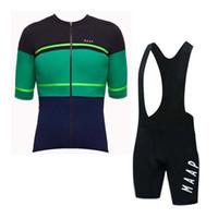 Maap Takımı Bisiklet Kısa Kollu Jersey Önlüğü Şort Setleri Yeni Erkekler Bisiklet Yaz Nefes Bisiklet Giyim U121916