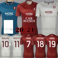 Maillot de pé 20 21 Fc Metz Futebol Jerseys 2020 2021 Boulaya Diallo Centonze Bronn Vagner Niane Fofana Vagner Casa Camisa de Futebol Tailândia