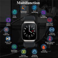 Retail S300 Smart Watchs Keadset 2 en 1 Récompense cardiaque Fitness Tracker Pression artérielle IP68 Eau Protation GPS Sports Bluetooth PK DZ09 Android
