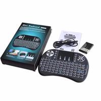 حار بيع الخلفية 2.4 جيجا هرتز i8 ميني لوحة المفاتيح اللاسلكية لوحة اللمس i8 الهواء يطير الماوس الخلفية لوحة المفاتيح لالروبوت التلفزيون مربع