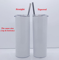 DIY Sublimation Tumbler 20oz blank white STRAIGHT Skinny Tum...