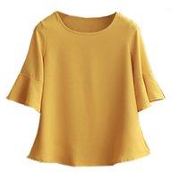Camisas Blusas para mujer 2021 OBESIDAD DE VERANO Blusa de gasa más Tamaño 6XL 5XL MUJER MUJER STARNEVE HERMOSA AUTO-CULTUVATI SHITH SHELL1