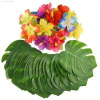 36 adet Yeşil Yapay Tropikal Palmiye Ağacı Monstera Yaprak Yapraklar DIY Düğün Ev Bahçe Ofis Yatak Odası Dekorasyon Fotoğraf Arka Plan