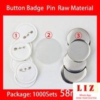 58mm 1000pcs DIY CRAFT BLANCO BONGE BONGO PINES PINES PINES PINES Botones Botones Suministros Suministros Piezas Botón Botón Componentes en blanco 58mm