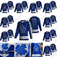 Toronto Maple Leafs Wendel Clark 2020-21 Reverse Retro Hockey Jersey Zach Hyman Mitchell Marner Auston Matthews William Nylander Jake Muzzin