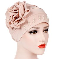 New Women Pattern Flower Hat Muslim Turban Headscarf Headwrap Ladies Chemo Cap Bandanas Headwear Accessories