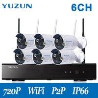 720p Home CCTV Kit per telecamere di sicurezza wireless per esterni Sistema telecamera per telecamere CCTV con NVR 6 Abito impermeabile per interni all'aperto