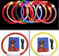 USB 충전 애완 동물 개 칼라 LED 야외 빛나는 안전 애완 동물 개 칼라 조정 가능한 LED 깜박이 강아지 칼라 애완 동물 용품