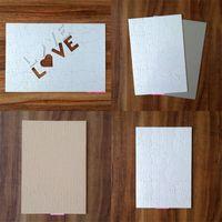 Sublimação Em branco Quebra-cabeças Puzzles Benefício Inteligência Crianças Adulto Pérola Luz Branco Coração em forma de A4 Papelão de amor Alta Qualidade 2 4xj M2