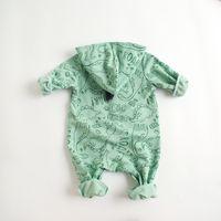 2021 Ins bebê crianças escalando romper manga longa desenhos animados impressão Dinossauro design romper 100% algodão menina primavera menino menino casual rompers 0-2t
