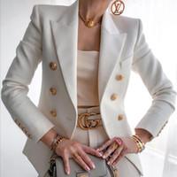 Kadın Blazer Kruvaze Blazers Artı Boyutu Bayan Ceketler 2021 Slim Fit Uzun Kollu Zarif Kadın Takım Elbise Ceket Ofis Bayanlar