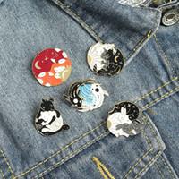 European Fox Animal Liga Brooches Goldfish Coelho Enamel Badge Pins Unisex Backpack Collar Macio Pin Jóias Acessórios