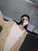 New Street Hip-Hop Ins Internet Знаменитость То же маска Персонализированные Trendsetter Черно-белые контрастные мужские и женские модный бренд