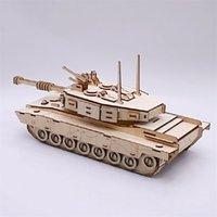M1 Main Battle Tank 3D Regalos de cumpleaños de madera DIY Juguetes Montaje Modelo Modelo Puzzles para niños Adultos Interactive juego