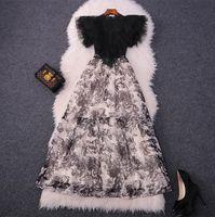 1130 XL 2021 Pist Elbise Marka Aynı Stil Elbise Kısa Kollu Ekip Boyun Elbise Beyaz Boncuk Bayan Giysileri Lüks Moda Sh