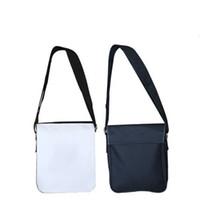 Diy قماش حمل حقائب التسامي الفراغات سستة حقائب واحدة الكتف حزام أسود قابل للتعديل أكياس سيدة رجل حار بيع 22YT G2