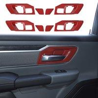 Rote Kohlefasertürinnengriff Dekoration Schüssel für Dodge RAM 1500 2018 2019 2020 Auto Inneneinrichtungen