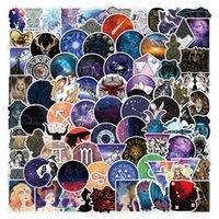 100 pcs Galaxy Constellation Graffiti adesivos para caderno skate caixa de computador caneca DIY de guitarra impermeável Decalques DIY