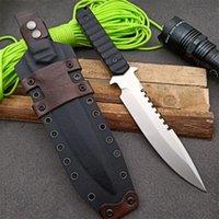 Förderung Hohe Qualität Survival Gerade Messer DC53 Tropfenpunkt Satin Klinge Full Tang G10 Griff Messer mit Kydex