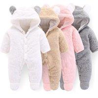 Cutyome recién nacido bebé ropa de invierno vellón bebé mameluco chicas manga larga otoño mansiones algodón animal oso disfraz mono y1221