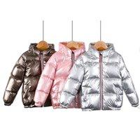 Baby Boys и девочки вниз 0-11 лет детская зима теплая одежда корейский с капюшоном зимние куртки конфеты цвета 5 цветов lj201017