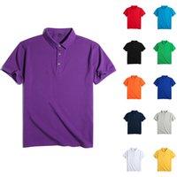2021 Polo Chemises Hommes Haute Qualité Coton Short Sleeve Shirts Entreprise Casual Solid Sport Sport Jerseys Tennis Tennis Black Shirts