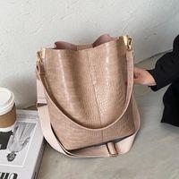 Vintage Crocodile Pattern Bags Designer And Women 2021 PU Bag For Purses Luxury Shoulder Handbags Leather Bucket Crossbody Clxnf