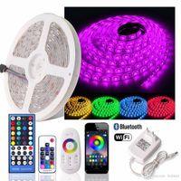 5M 300 LEDs Flexible RGB RGBW LED-Lichtleiste Nicht wasserdichte RGB-LED-Ribbon-Bandleuchte + WLAN /Bluetooth/2.4g/rf Remote + Netzteil