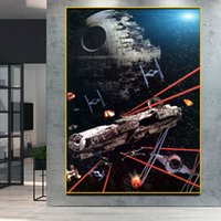 Millennium Falcon Death Star Movie Poster Science Fiction Ca...