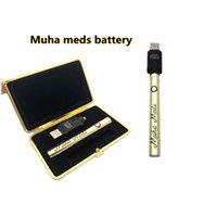 MUHA Meds Meds Batteries de batterie Bouton Touch Batteries Touch 510 Vape Vaporiseur 380mAh Tension réglable Atomizer Kits