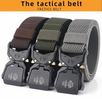 2020 New Elastic Belt Official Genuine Hard Metal Quick Release Buckle Men's Tactical Belt Men's Accessories Dropshipping