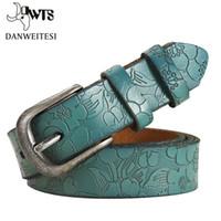 [DWTS] Ceintures femmes mince véritable cuir ceinture en cuir femme 6 Couleur Floral Courroies sculptées pour femmes CEINTOURE Ceinture Femme Femme Livraison gratuite
