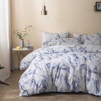 Marble Printed Comforter Set (Twin Queen, King) 2 3 Piece Se...