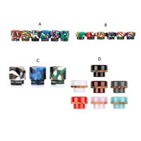 810 Epoxy Resina Drip Tips 4 estilo National Bandera Colorida Crean Anillo Diseño Boquilla para TFV8 TFV12 ECIG DHL gratis