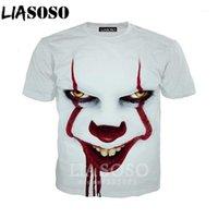 Liasoso Hommes Tshirt 3D Print Film d'horreur It Chapitre Deux T-shirt Unisexe Funny Homme T-shirts Femmes Cosplay Clown Tees Tops D010-31