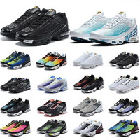 Tn Plus 3 III Running Shoes Chaussures Triple White Black Laser Blue Green OG USA Red Mens Womens Trainers Sneakers Sports Size 36-46