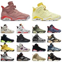 Nike air jordan retro 6 jordans 6s off white Jumpman 6 6S Basketball Chaussures Millennial Pink VI Journée de Singles Floral Hare Fumée Gris Sports Sports Sporresseurs Taille 36-47