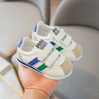 Zapatillas de deporte para niños para niños Zapatos bebé niñas niños zapatos de moda marca blanca PU Casual Light Support Support Zapatos para niños C1120