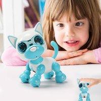 Smart Robot Dog Electronic Щеки Домашние животные игрушки Детские Домактные Прикосновение Интеллектуальные Взаимодействие Весело Playmate Sound Гибкая запись LJ201105